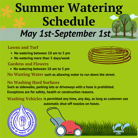 Summer Watering Schedule